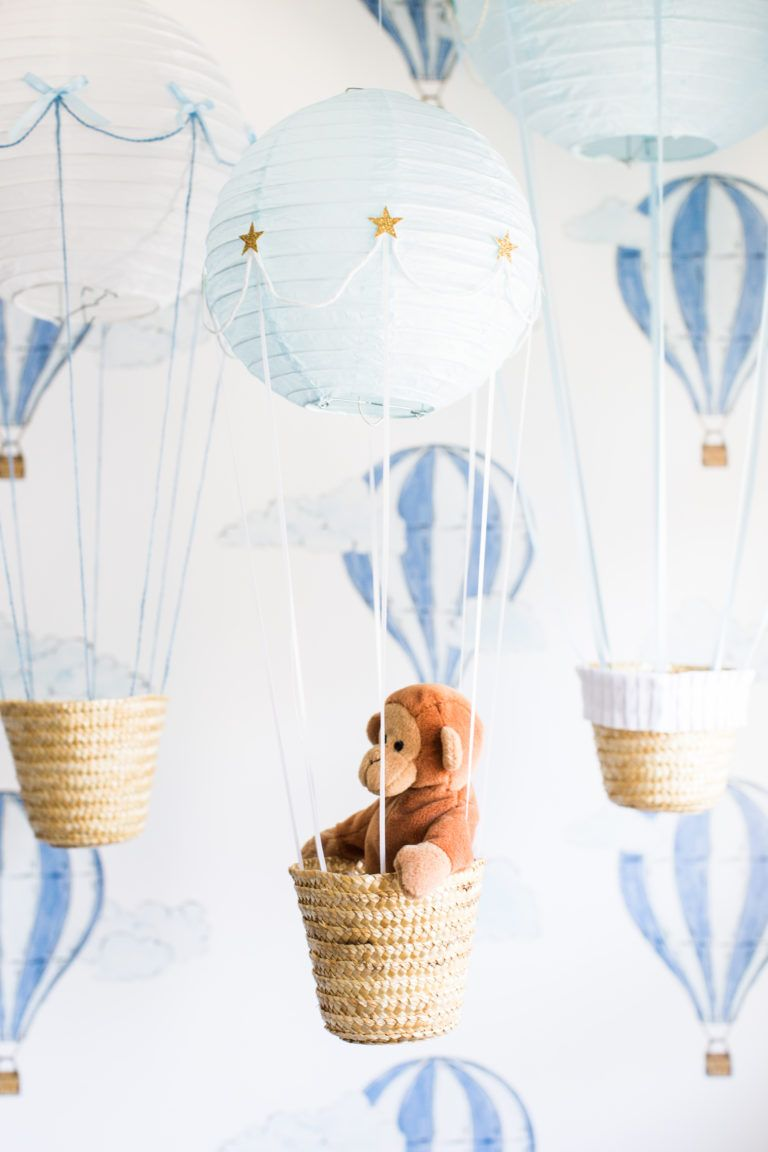 Up Up And Away A Baby Boy S Nursery Hot Air Balloon Nursery Hot Air Balloon Nursery Boy Hot Air Balloon Baby Shower Boy