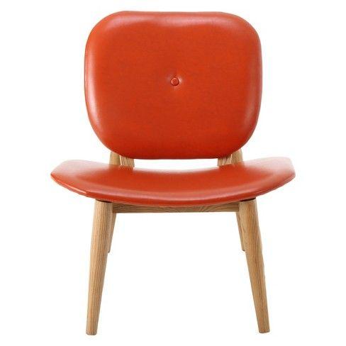 Best Atticus Bonded Leather Accent Chair Burnt Orange 400 x 300