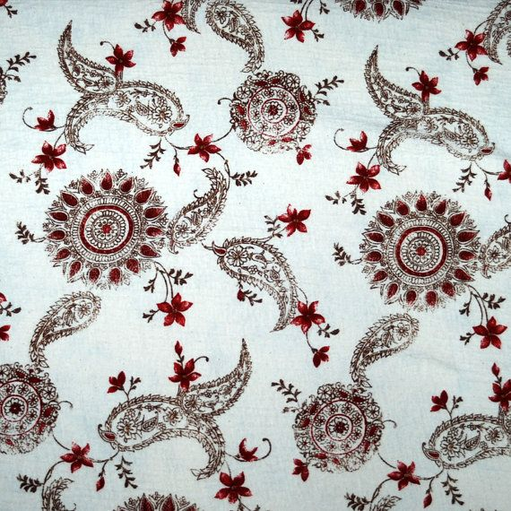 0.5 yards by 58 inch wide... floral pattern... by ArtEclectique, $6.50