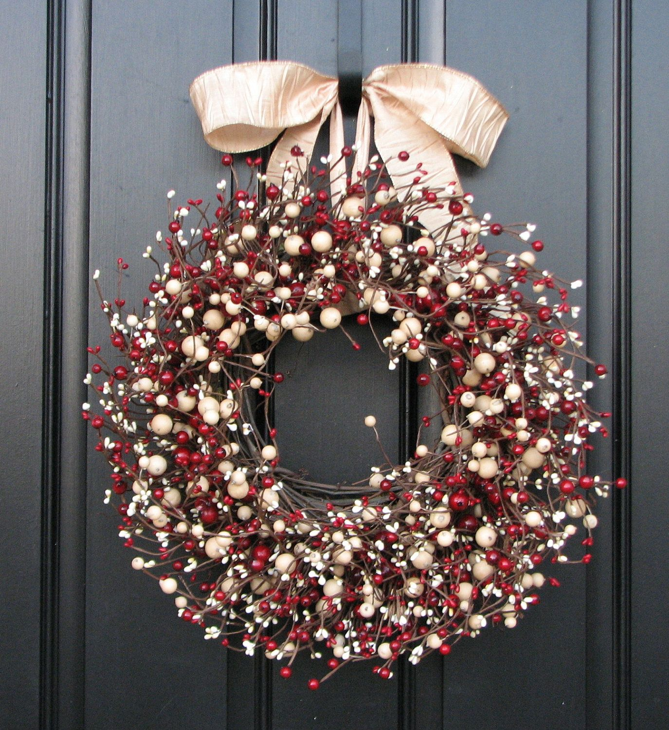 Christmas Berry Wreaths Jolly Holiday Wreath Front Door Wreaths