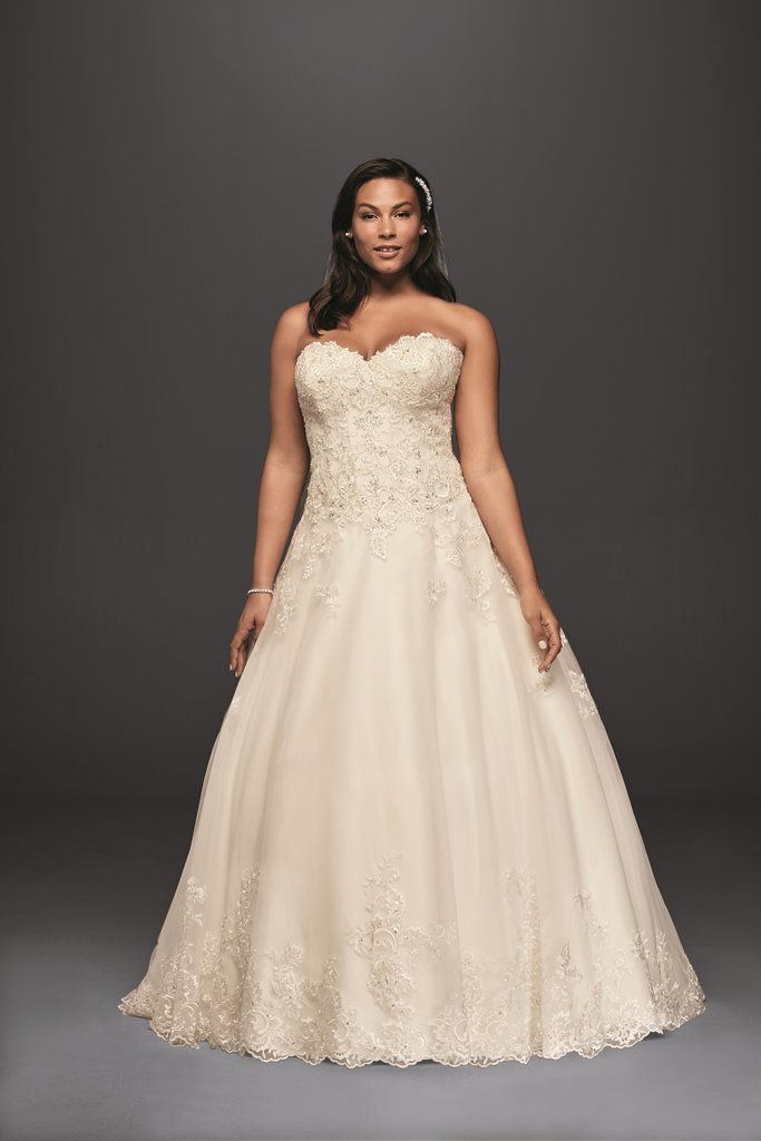 c4502c05802 20 Lovely (and Affordable!) Wedding Dresses For Ladies With Curves ...