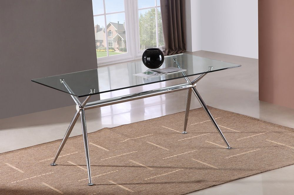 Glass T058 Dining Table By J M Dining Table In Kitchen Dining