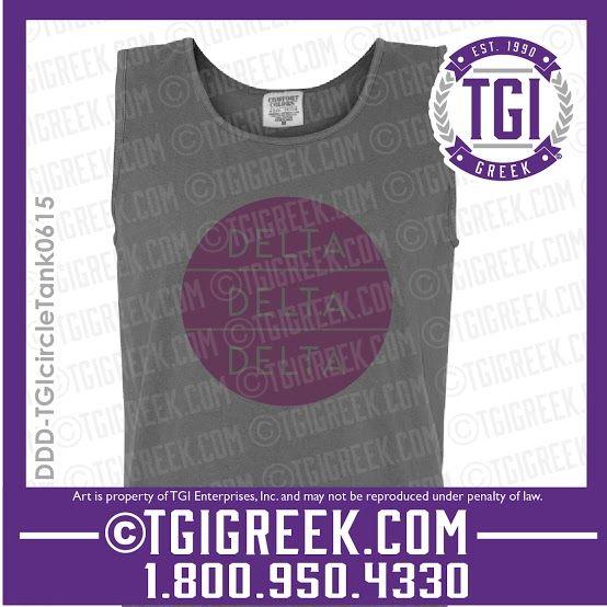 TGI Greek - Delta Delta Delta - Greek T-shirts - Sorority PR - Comfort Colors - Tank - Tri Delta