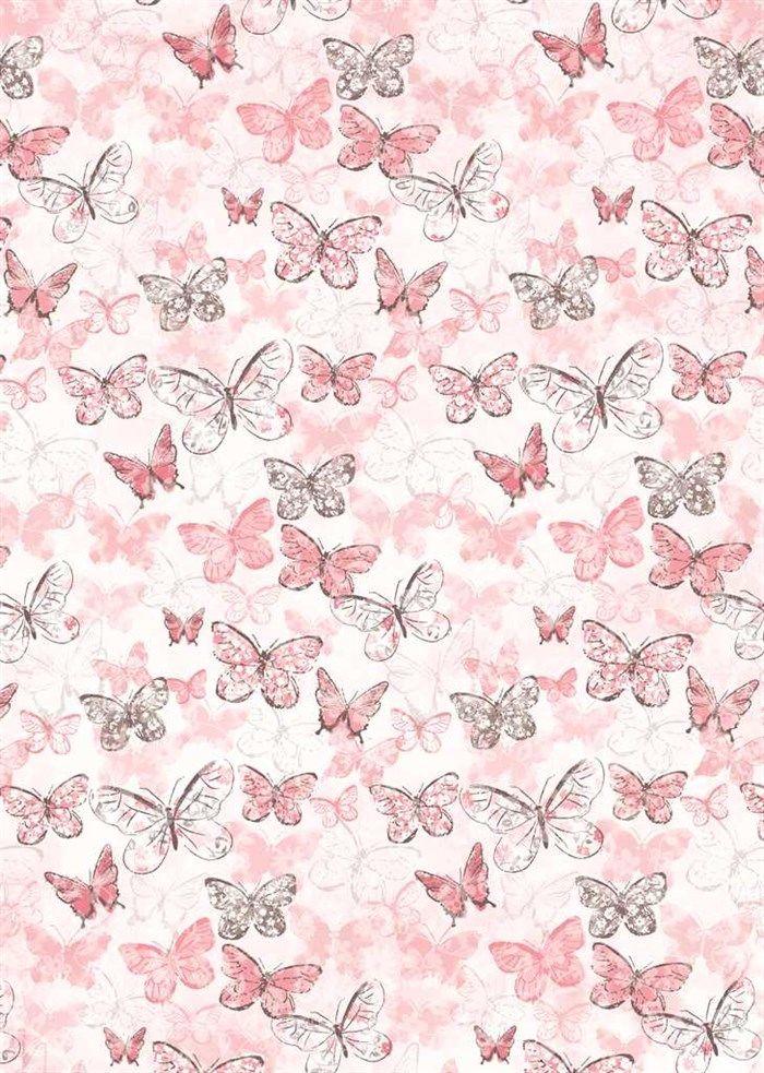 Butterflies on Pink   Papel de parede borboletas ...