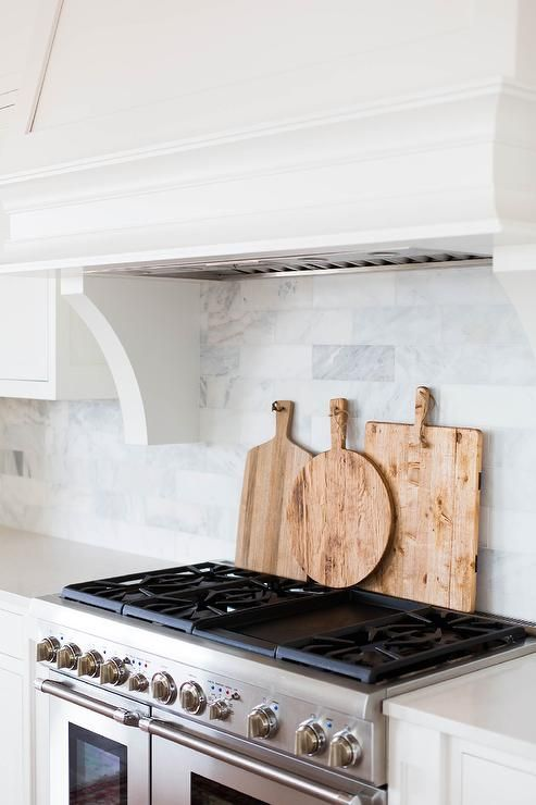 Marble Brick Tiled Kitchen Backsplash Transitional Kitchen