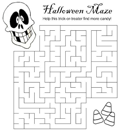 Halloween Maze Lots more printables