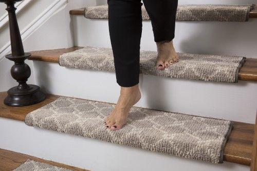 Parterre Bullnose Carpet Stair Tread With Adhesive Padding 27 Wide 10 Deep Single Tread Bullnose Carpet Stair Treads Carpet Stair Treads Carpet Stairs