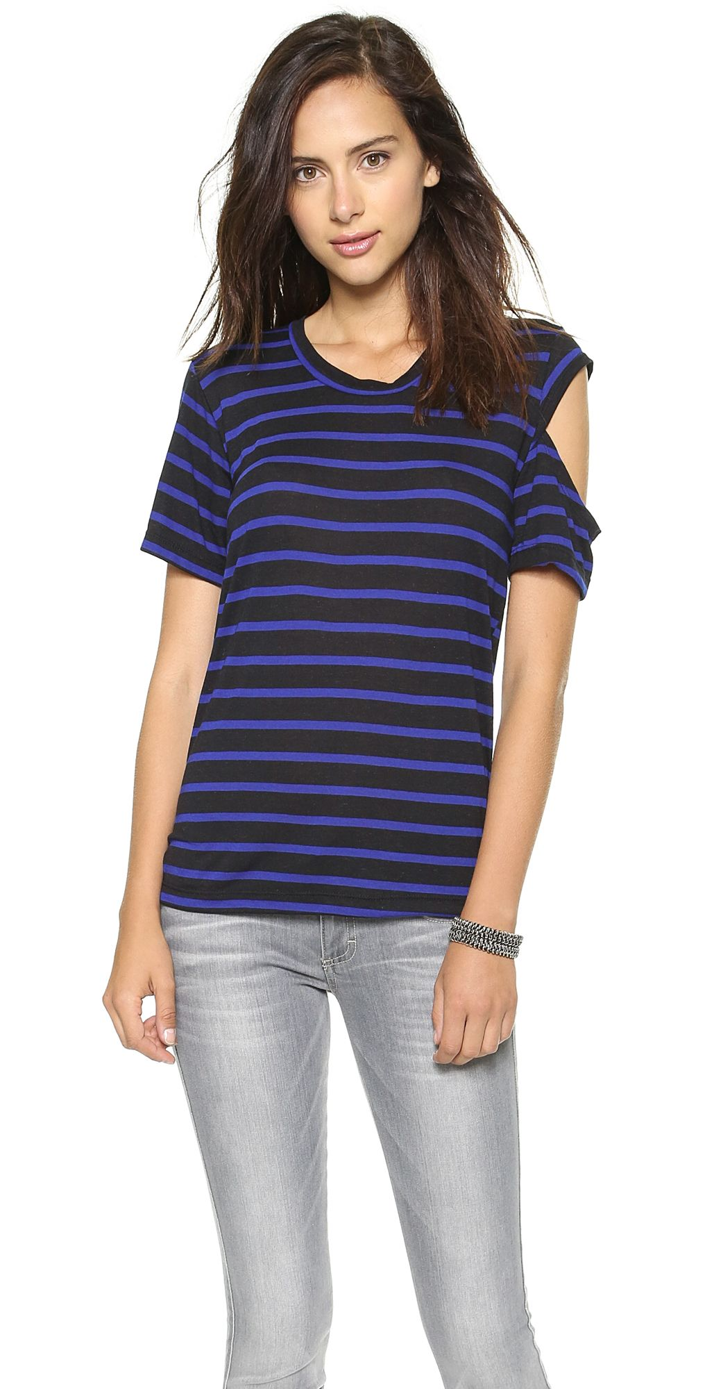 0e29d7c6a8 Striped Tee | Threads | Striped tee, Tops, Tees