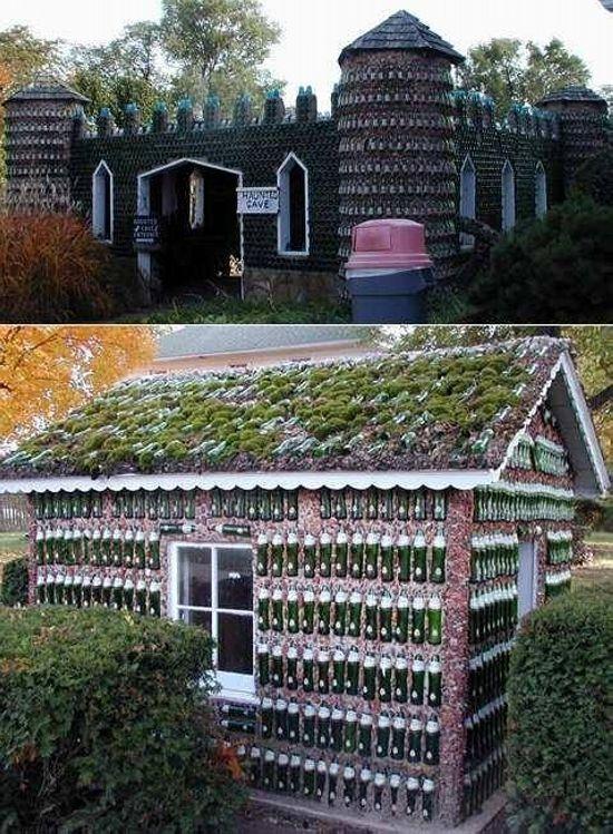 Houses Made Of Recycled Bottles Plastic Bottle House Bottle