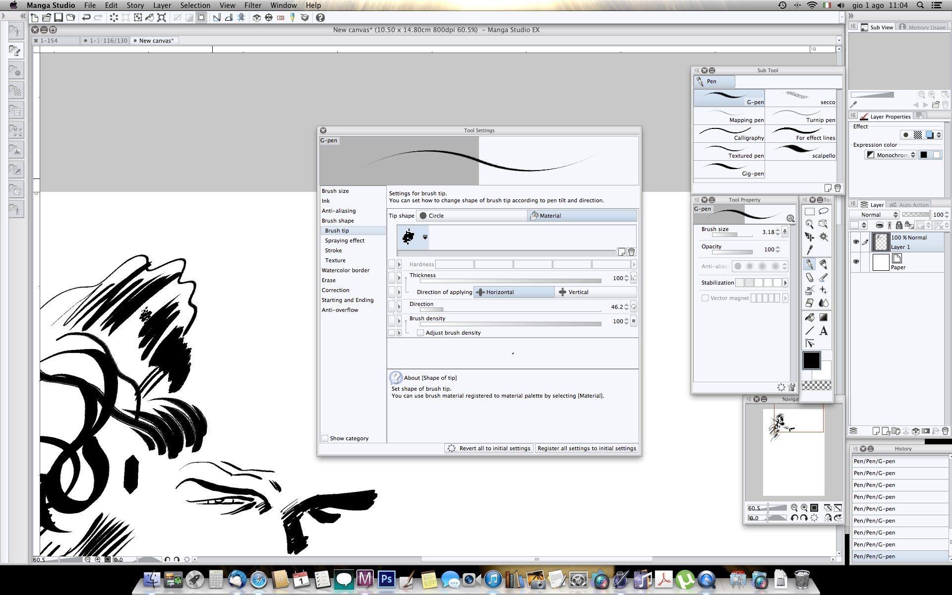 tutorial manga studio 5 setting g-pen Digital Art Tutorial, Video  Tutorials, Drawing