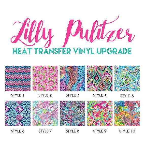 Lilly Pulitzer HEAT TRANSFER Vinyl Upgrade