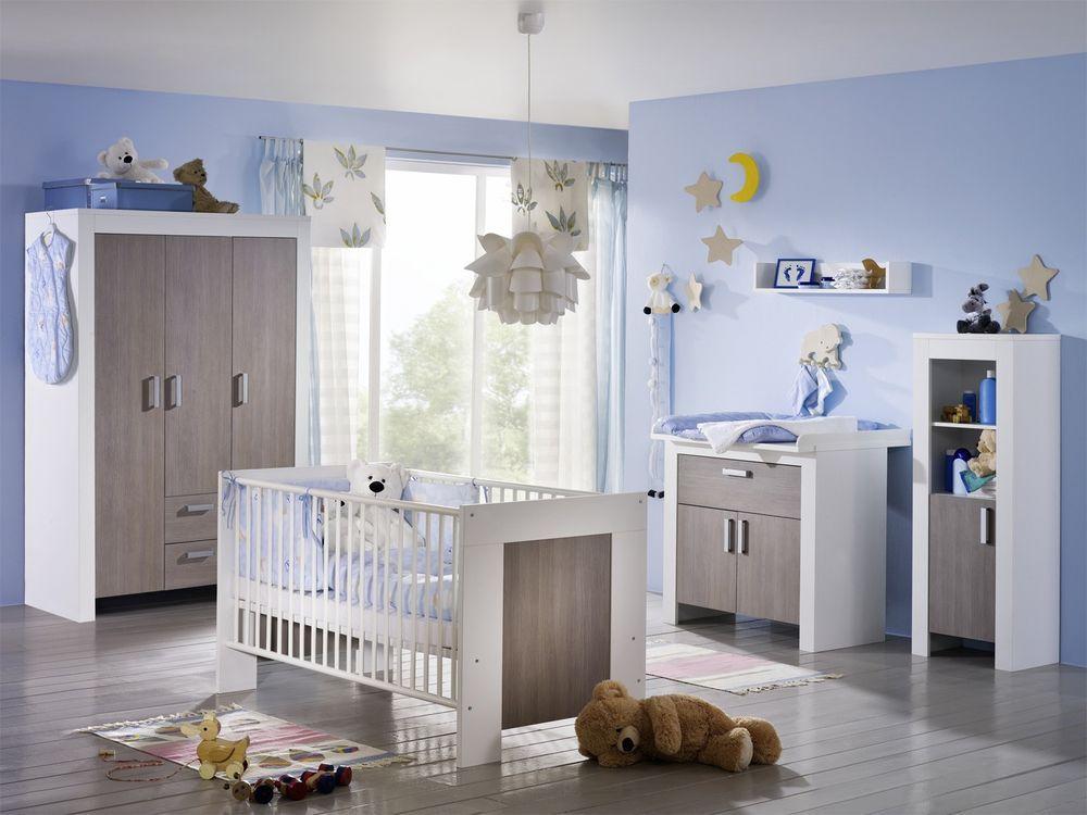 Babyzimmer JENNY Holz weiß Janne komplett (BHT 130x188x55