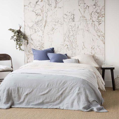 dredon lin gris clair point arri re dredons lit. Black Bedroom Furniture Sets. Home Design Ideas