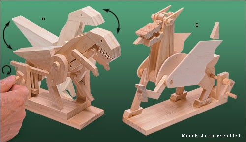 Animated Models Lee Valley Tools Wooden Model Kits Model Gift Fantasy Lovers