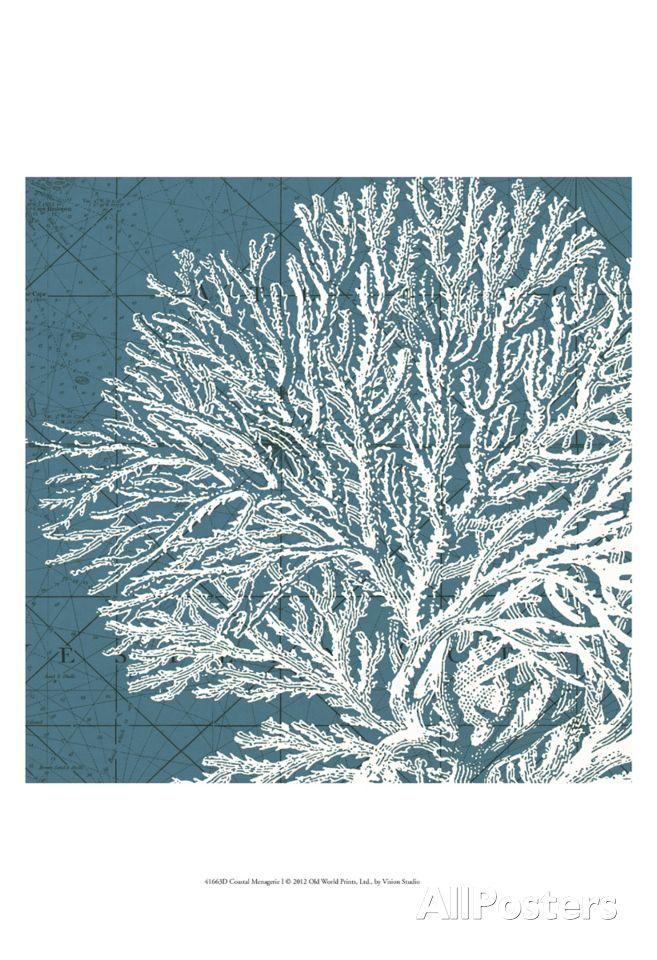 Coastal Menagerie I Art Print at AllPosters.com