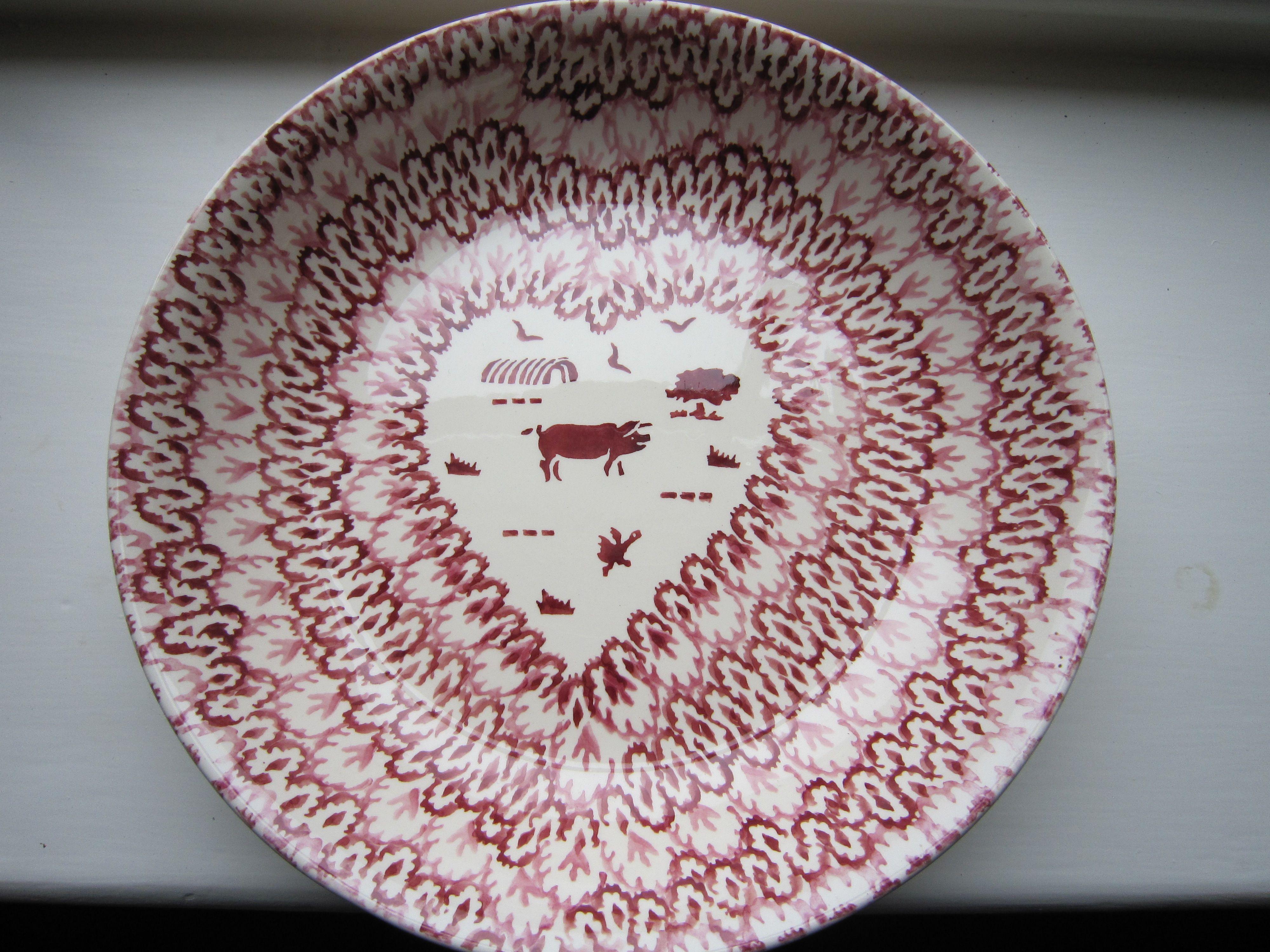 Emma Bridgewater Special Pink Hearts & Pig Pasta Bowl