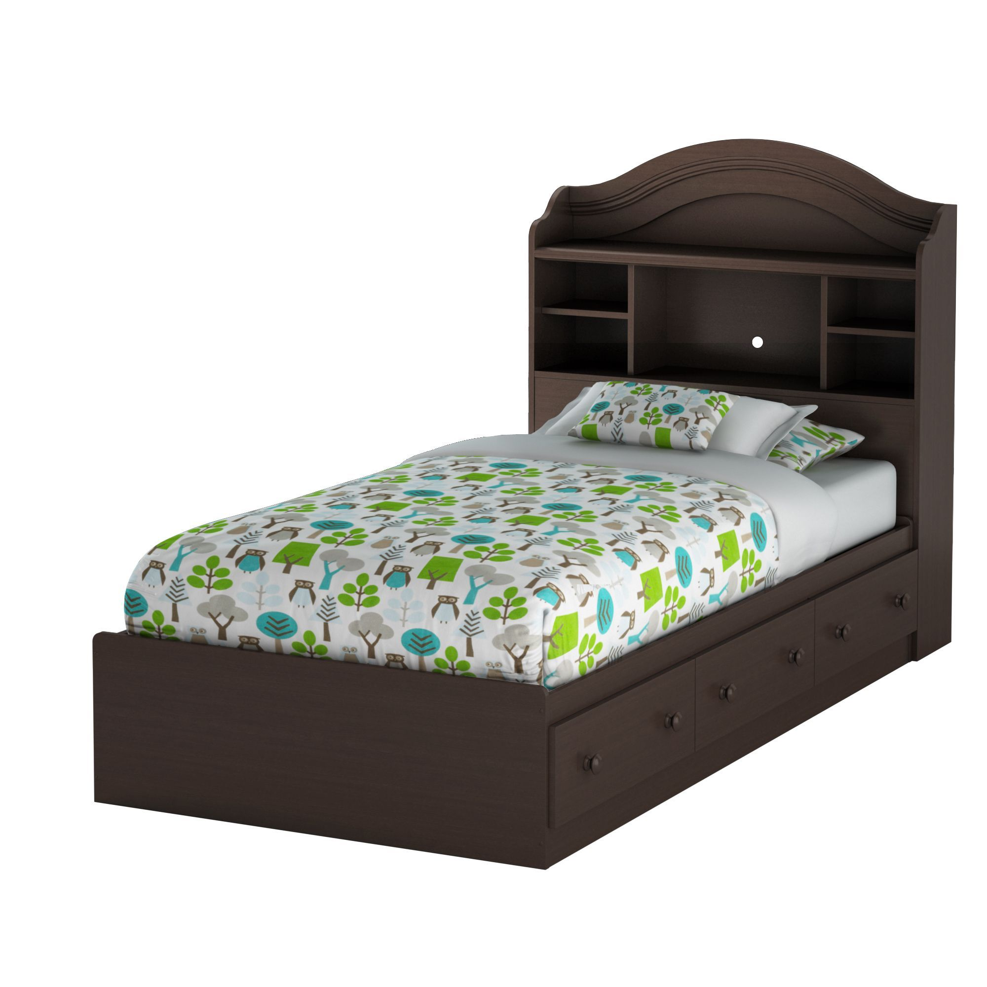 South Shore Summer Breeze Twin Mates Bed with Drawers and