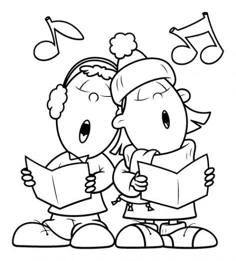 Sing A Song Together Coloring Page Supercoloring Com Digital Stamps Christmas Pattern Coloring Pages Christmas Coloring Pages