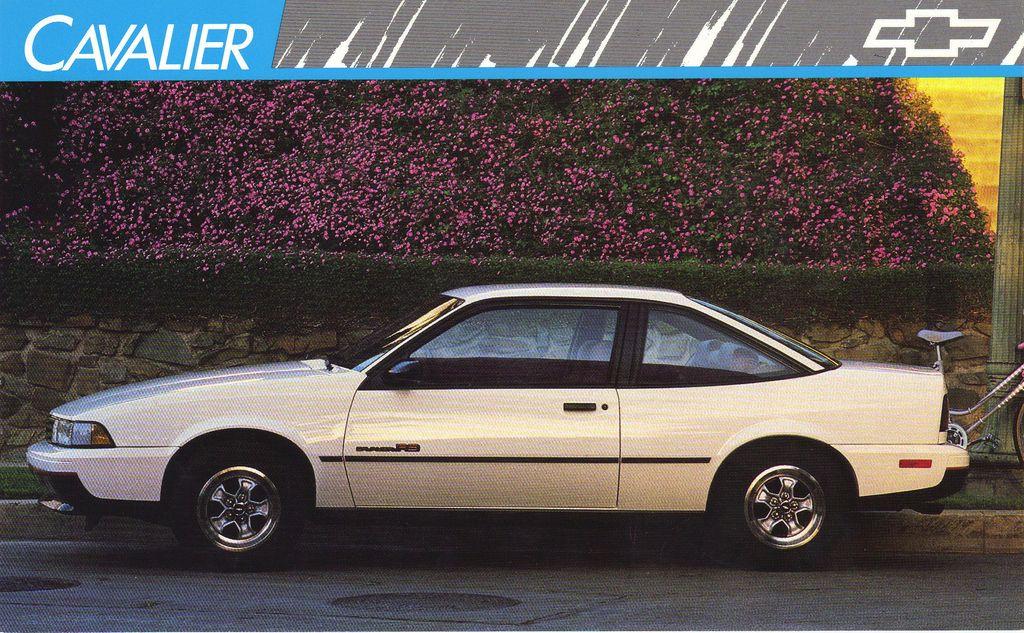 1989 Chevrolet Cavalier Rs Chevrolet Cavalier Chevrolet Cavalier