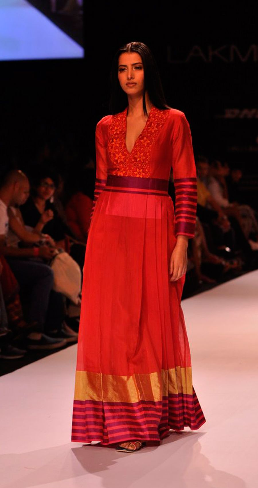 Available only at perniaus red woven long pleated dress popup shop