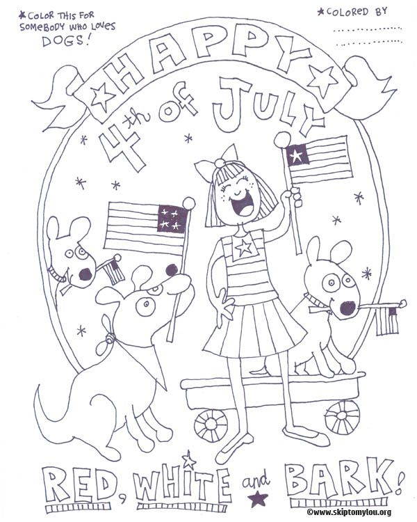 Free 4th Of July Coloring Pages July Colors Coloring Pages Flag Coloring Pages
