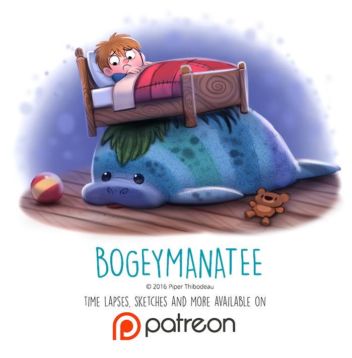 Day 1435. Bogeymanatee by Cryptid-Creations.deviantart.com on @DeviantArt