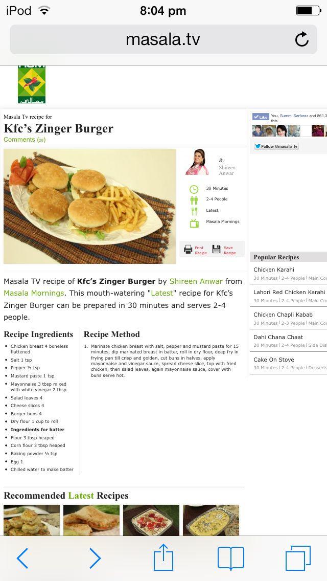 Zinger Burger Recipe By Shireen Anwar – Blog Dandk