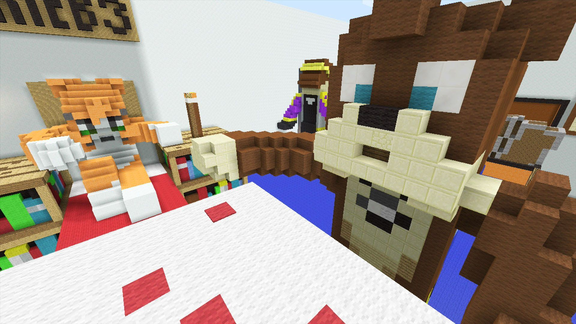 minecraft bedroom wallpaper minecraft xbox stampy s bedroom hunger s 12399