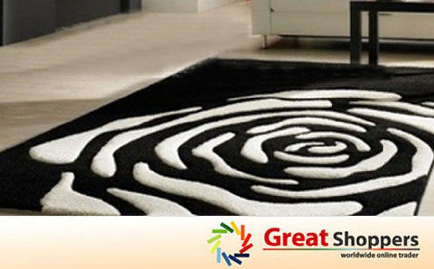 Pin By Anatida On Carpets Black And White Carpet Patterned Carpet White Carpet