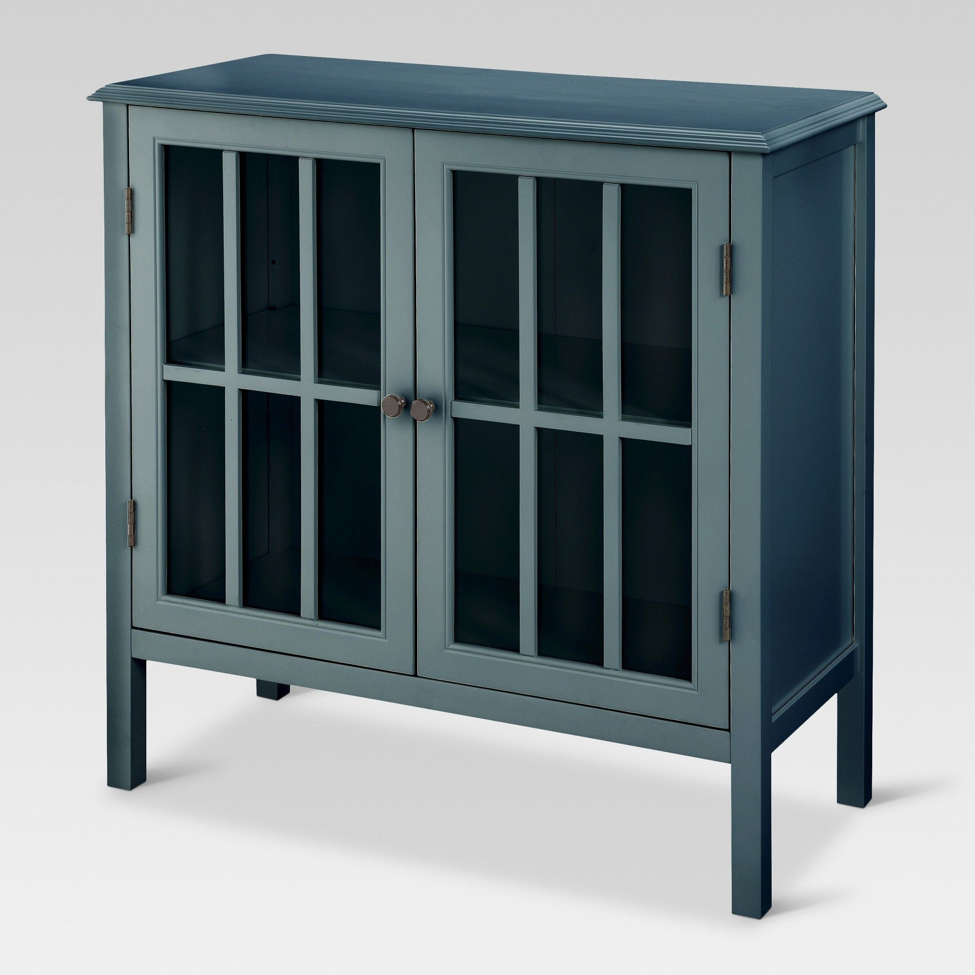 Windham 2 Door Accent Cabinet Slate Grey Threshold Storage Cabinets Living Room Cabinets Teal Cabinets