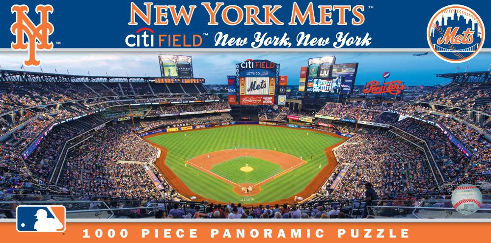 Citi Field New York Mets 1000pc Panoramic Puzzle Br Only 1 Left New York Mets New York Mets Stadium Mets