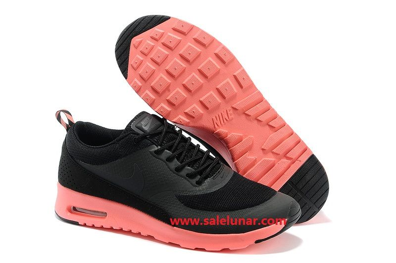 Black Charcoal Coral Nike Air Max Thea Print Women's Shoes