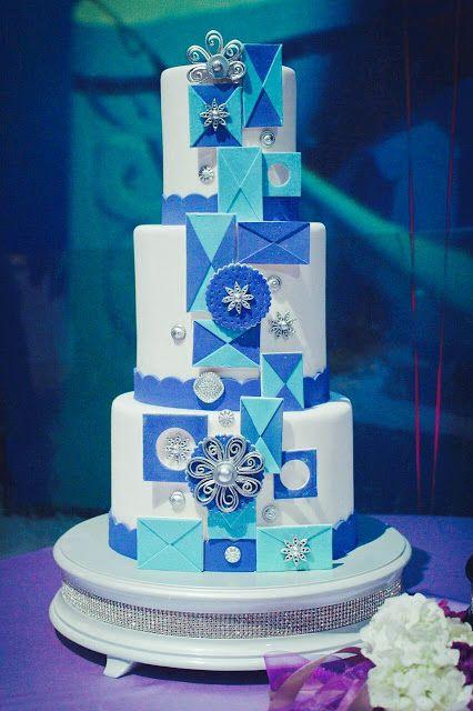 Beautiful Its A Small World Inspired Disneyland Wedding Cake