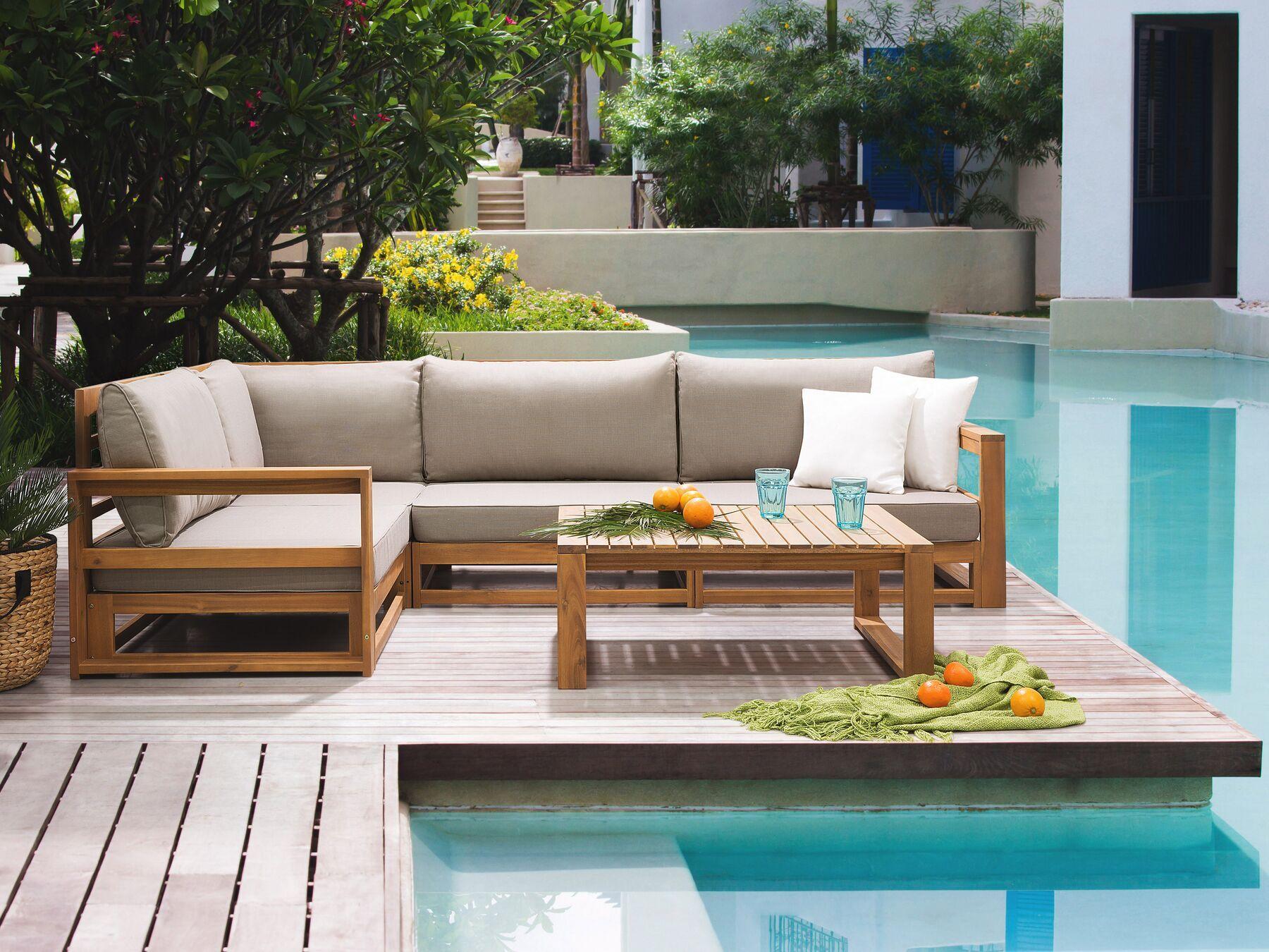 Dřevěná Zahradní Sedací Souprava Timor In 2020 Garden Sofa Set Garden Sofa Outdoor Sofa Sets