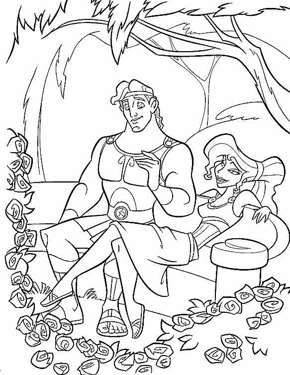 Kleurplaten Disney Hercules.Hercules Kleurplaten Voor Kinderen Kleurplaat En Afdrukken Tekenen