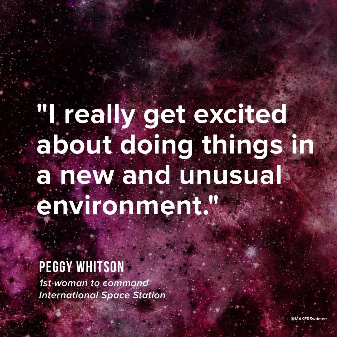 space inspires female astronaut peggy whitson what environment are you most inspired by - What Inspires You What Influenced You The Most