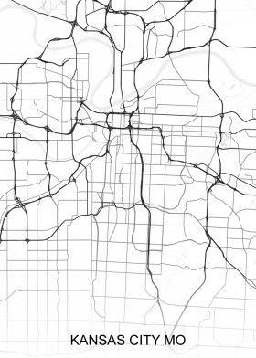 Map Of America Kansas City.Kansas City Mo Usa Street Map North America Street Maps Airport