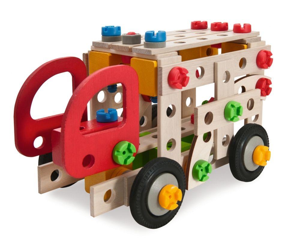 Heros Constructor Fire Truck Houten Speelgoed En Speelgoed