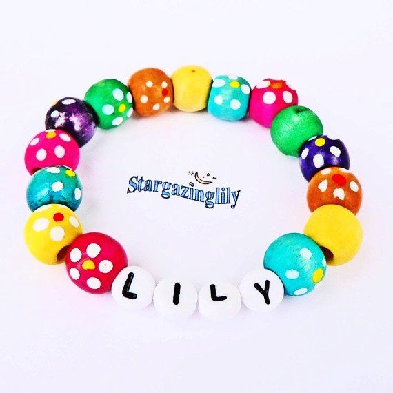 Children S Name Bracelets Personalized Jewelry Party Favor Infant Child Kid Toddler Makes A Great Valentine Day