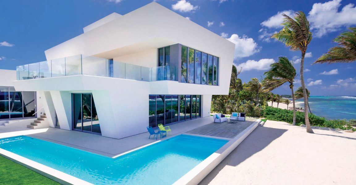 Understated Elegance And Clean Lines At This Ultra Contemporary Beach House For Sale In The Cayman Contemporary Beach House Beach Houses For Sale Camden House