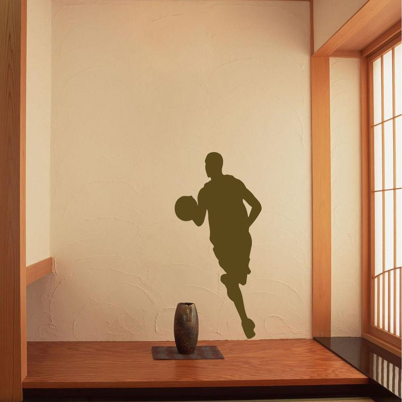 Dribbling Basketball Player Vinyl Wall Decal | Products | Pinterest ...