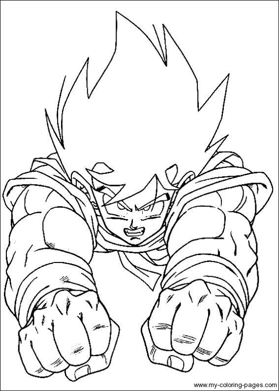 Dragon Ball Z Coloring Pages 8