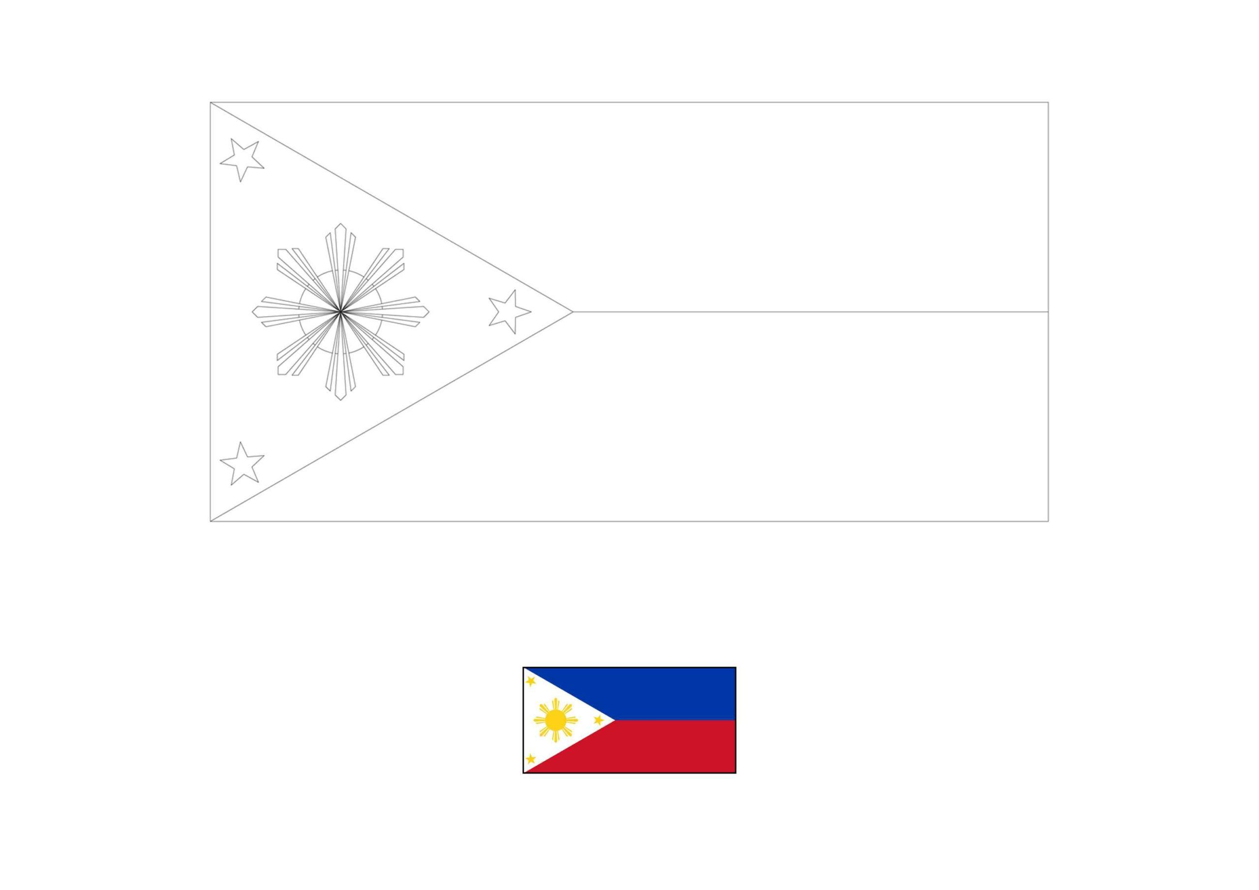 Philippines Flag Coloring Page In 2020 Flag Coloring Pages
