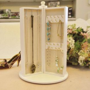 Wood accessories jewelry holder princess fashion rotating jewelry