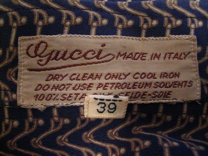 Gucci Collector Cristies Etichetta Jpg 700 525 Pixels Vintage Labels Clothing Labels Labels