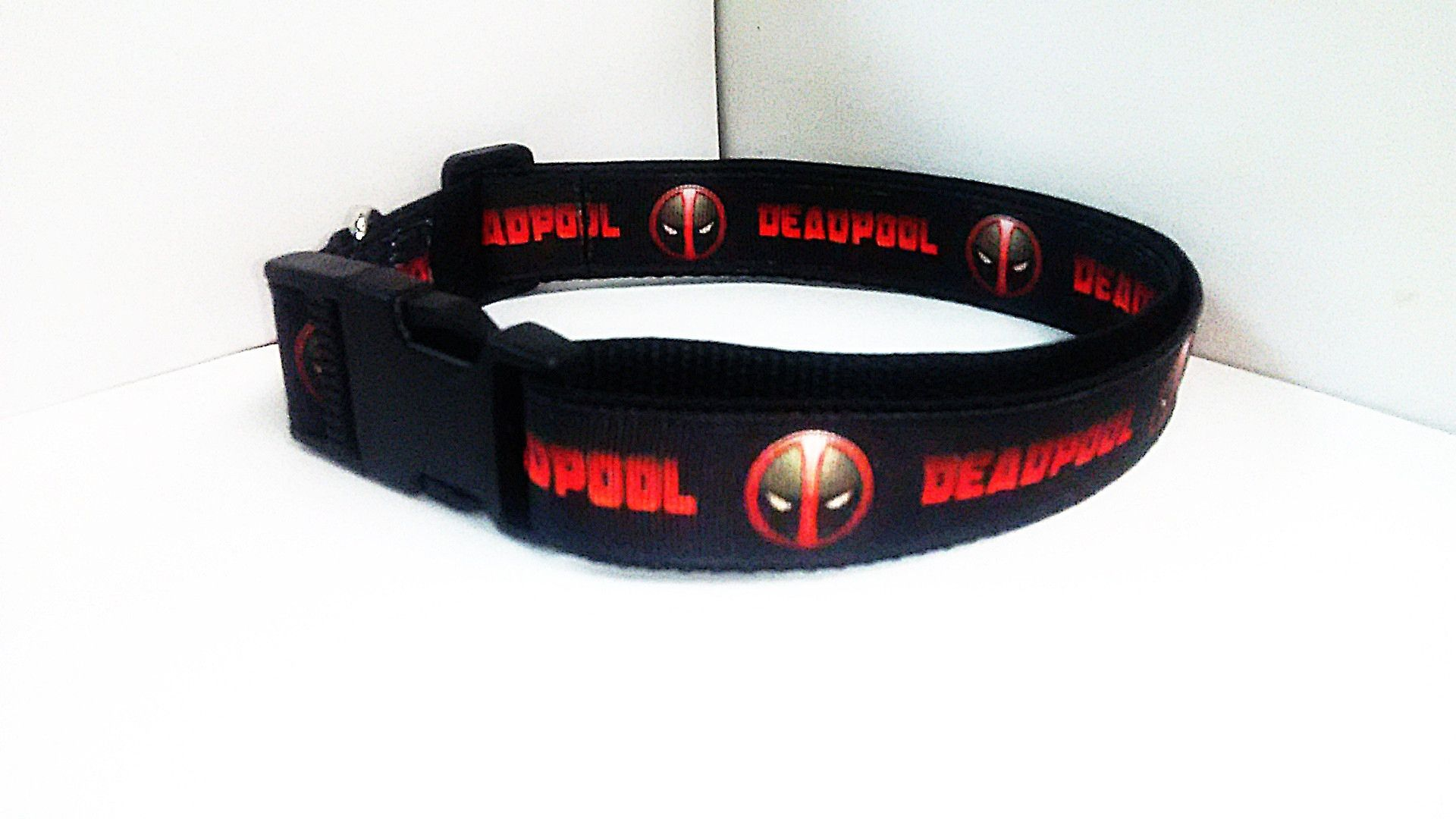 Deadpool Dog Collar - Handmade SIZE X-Large