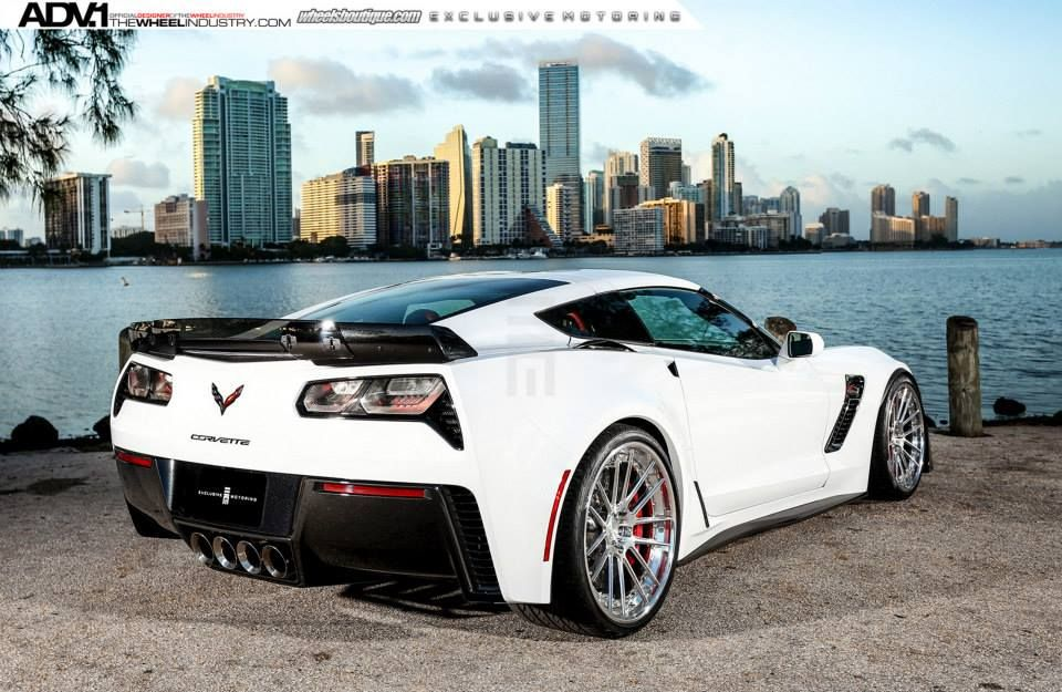 Gallery Corvette Z06 C7 Slammed On Adv1 Wheels White Corvette