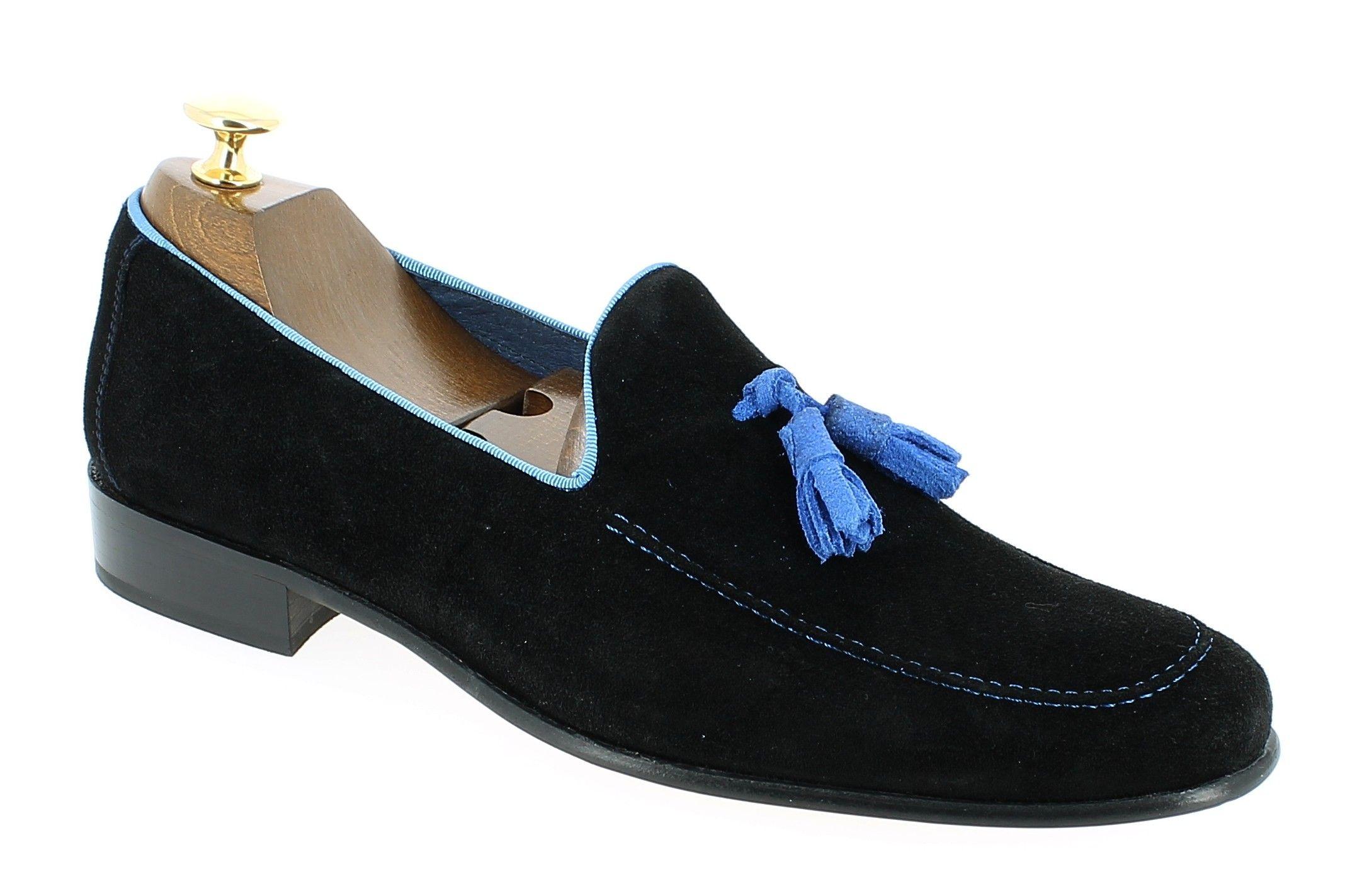 Homme Slip On emblématique Mocassin Chaussures Vernies Cuir Brillant Smart Casual