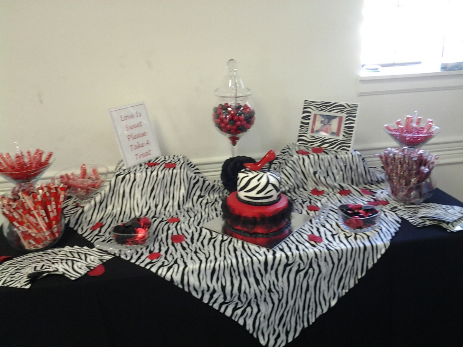 zebra print candy bar red black and white candy bar pinterest