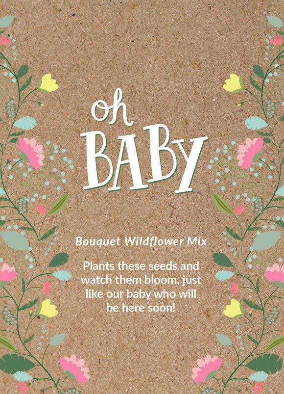 """""""Oh Baby - Baby Shower """" Bouquet Flower Seed Favor"""